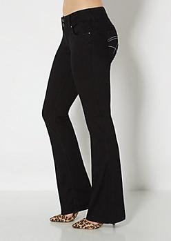 Black Better Booty Boot Jean in Curvy
