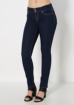 Dark Blue 2-Shank Jegging in Curvy