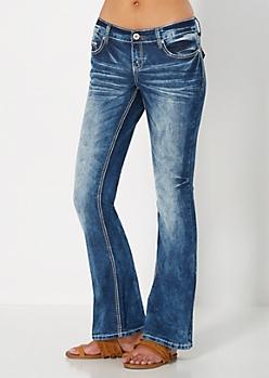Sandblasted Boot Jean in Curvy Short