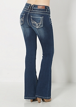 3-Shank Darted Flare Jean in Curvy