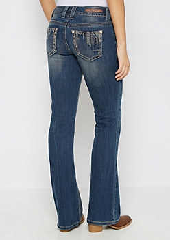 Sandblasted Stone Drop Boot Jean in Curvy