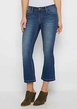 Flex Baked & Sandblasted Cropped Flared Jean in Curvy