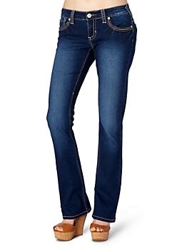 Sandblasted Slim Boot Jean in Curvy Short