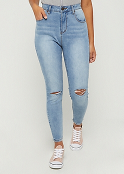 Medium Blue Xtra High Rise Ankle Jegging in Curvy
