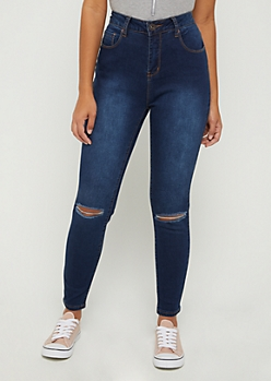Dark Blue Xtra High Rise Ankle Jegging in Curvy