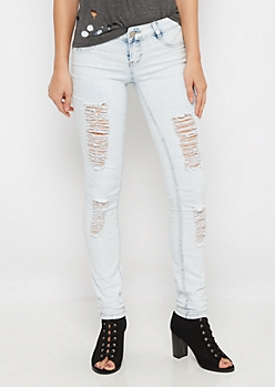 Destroyed Vintage Jegging in Curvy
