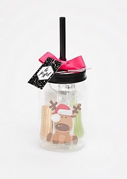 Travel Reindeer Holiday Hand Sanitizer Set