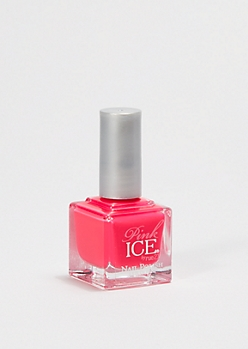 Fuschia Neon Pink Ice Nail Polish