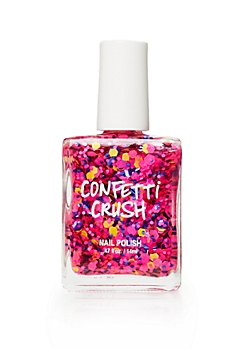 Hot Pink Confetti Crush Nail Polish