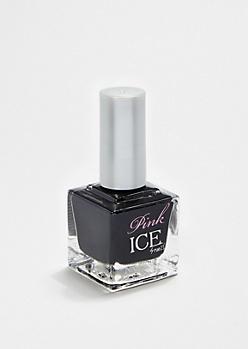 Black Pink Ice Nail Polish