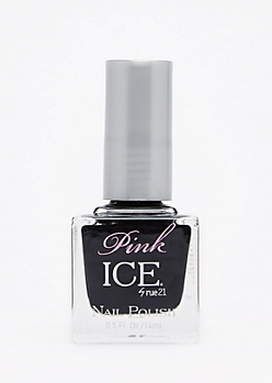 Black Pink Ice Nail Polish