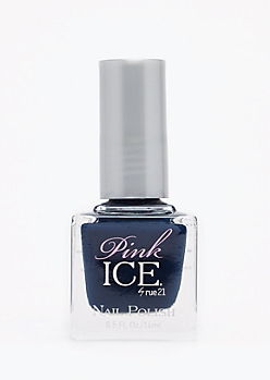 Navy Pink Ice Nail Polish