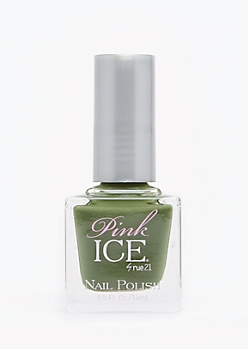 Dark Olive Pink Ice Nail Polish