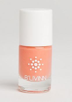 Orange Shimmer Nail Polish By B
