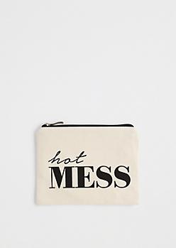 Hot Mess Canvas Makeup Bag
