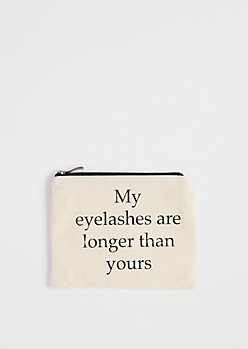 Longer Than Yours Canvas Makeup Bag