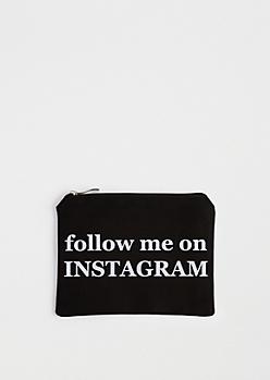 Follow Me Canvas Makeup Bag