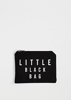 Little Black Canvas Makeup Bag