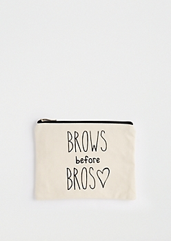 Brows Before Bros Canvas Makeup Bag