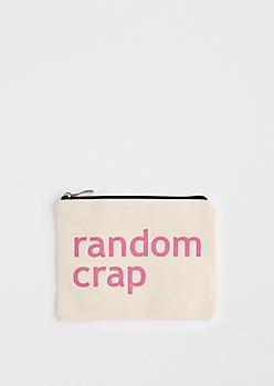 Random Crap Canvas Makeup Bag