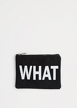 Whatever Canvas Makeup Bag