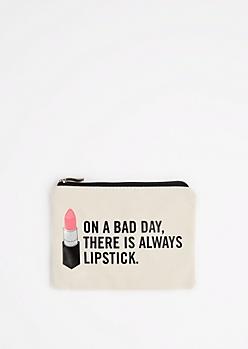 Always Lipstick Canvas Makeup Bag
