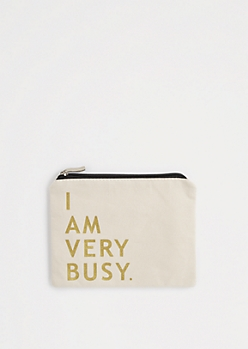 Very Busy Canvas Makeup Bag