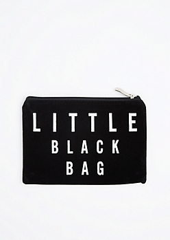 Little Black Velvet Makeup Bag
