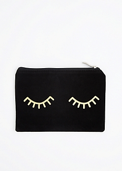 Bat Your Lashes Velvet Makeup Bag