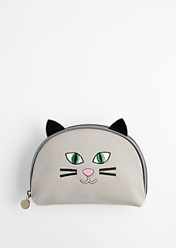 Cat Ear Canvas Makeup Bag