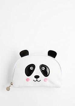 Panda Ear Canvas Makeup Bag