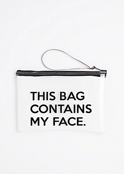 Contains My Face Clear Makeup Bag