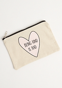 Being Kind Is Rad Cosmetic Bag