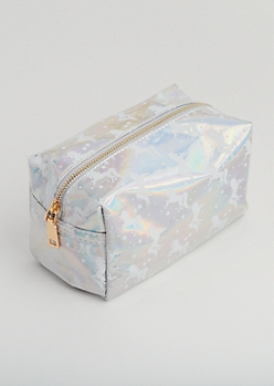 Holographic Unicorn Cosmetic Bag