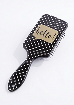 Hello Polka Dot Paddle Brush