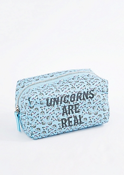 Unicorns Are Real Nylon Makeup Bag