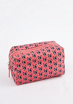 French Bulldog Nylon Makeup Bag