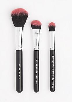 3-Piece Pro Contour Brush Set