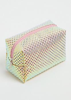 Iridescent Diamond Cosmetic Bag