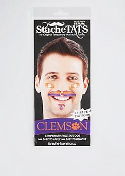 Clemson Tigers Temporary Face Tattoos