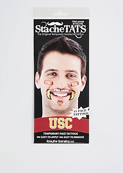 USC Trojans Temporary Face Tattoos