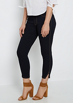 Split Ankle Cropped Jegging in Curvy