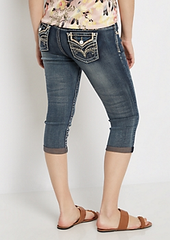Vintage Stitched & Cropped Jean in Curvy
