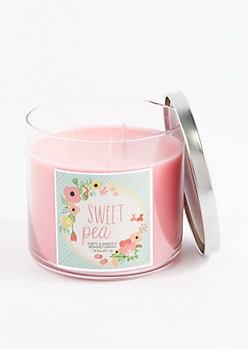 3-Wick Sweet Pea Scented Candle