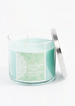 3-Wick Refreshing Eucalyptus Mint Scented Candle
