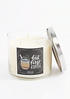 3-Wick But First, Coffee Scented Candle