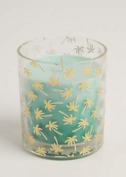 Foiled Palm Tree Coconut & Vanilla Candle