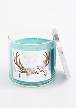 3-Wick Hello Fall Scented Candle
