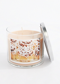 3-Wick Cinnamon Bun Scented  Candle