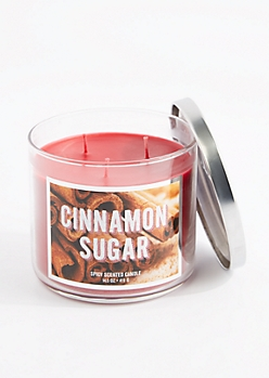 3-Wick Cinnamon Sugar Scented Candle